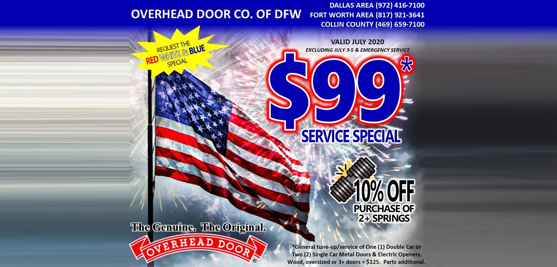 Overhead Door Dallas Fort Worth Specials